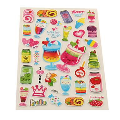 Drink Time Plastic Sticker