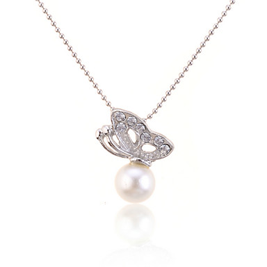 Women's Shape Fashion Pendant Necklace Pearl Necklace Pearl Alloy Pendant Necklace Pearl Necklace Daily Costume Jewelry