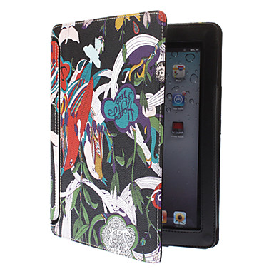 Happy Oriole Pattern Rotatable PU Leather Case with Stand for iPad 2/3/4(Assorted Colors)