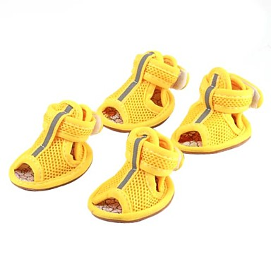 cheap Dog Clothing & Accessories-Cat Dog Shoes & Boots Yellow Red Blue For Pets