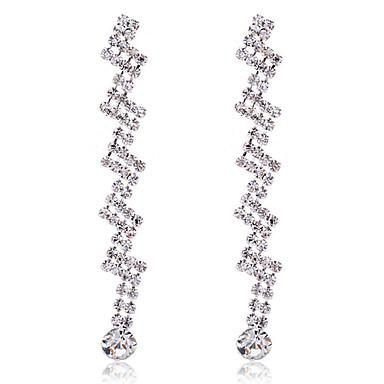 Druppel oorbellen Kristal Verzilverd Zilver Sieraden Voor Feest Dagelijks Causaal 2 stuks
