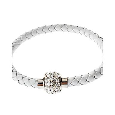 Pentru femei Brățări cu Talismane Bratari Wrap Bratari din piele plaited țesut Prieteni Ieftin femei De Bază Modă De Fiecare Zi Piele Bijuterii brățară Argintiu / Rosu / Auriu Pentru Petrecere