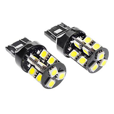 T20 (7440,7443) Auto Bianco 3.5W SMD 5050 6000-6500 Luce indicatore di direzione Luce freno CANBUS