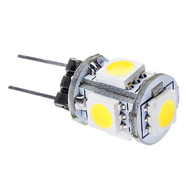 daiwl g4 1w 6000-6500k 65-75lm 5x5050smd doğal beyaz ışık araba led lambaları (DC 12V)