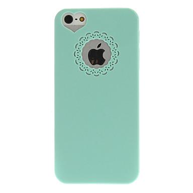 Pouzdro Uyumluluk iPhone 5 / Apple iPhone 5 Kılıf Süslü Arka Kapak Tek Renk Sert PC için iPhone 5