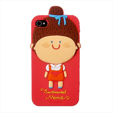 Silica Gel sarjakuva söpö tyttö Pattern suojakotelo iPhone 4/4S