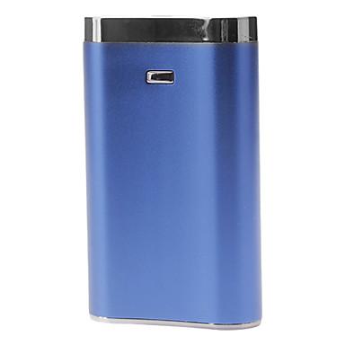 9000mAh banco energia portátil para dispositivos móveis com lanterna (azul)