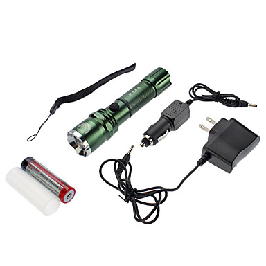 SmallSun 4 Linternas LED LED 350 lm 4.0 Modo Cree XR-E Q5 Enfoque Ajustable Recargable autodefensa Impermeable con pila y cargador para