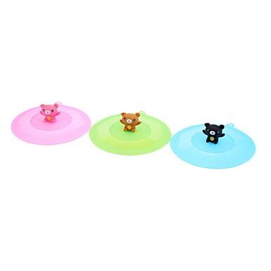 Cartoon Bear Silicone Bowl Cover (Random Color)