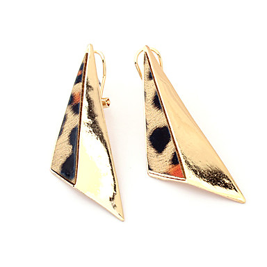 Leopard Print Triangle Geometry Earrings(Assorted Color)