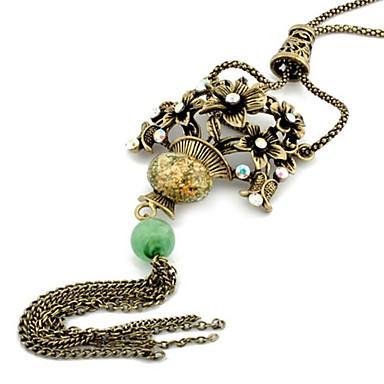 Kırmızı Uçlu Kolyeler / Vintage Kolye Günlük Mücevher