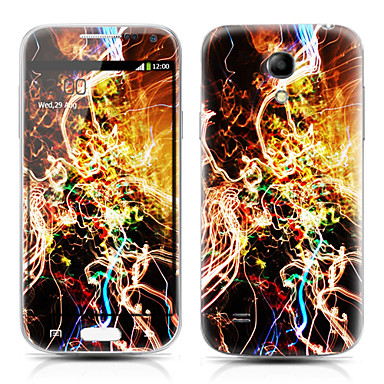 Pattern Front and Back Protector Stickers for Samsung Galaxy S4 mini I9190