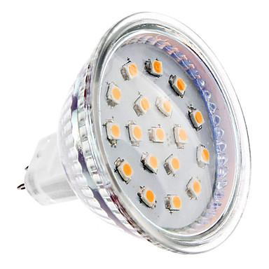 2W 150-200 lm GU5.3(MR16) LED Spot Işıkları MR16 15 led SMD 2835 Sıcak Beyaz DC 12V
