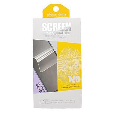 DEVIA Anti-Fingerprint e Anti-Dazzle Film Guard Set com pano de microfibra azul para o iPhone 4/4S
