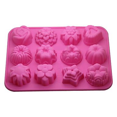 Bakeware araçları Silikon Çevre-dostu / 3D Kek / Kurabiye / Tart Pişirme Kalıp 1pc