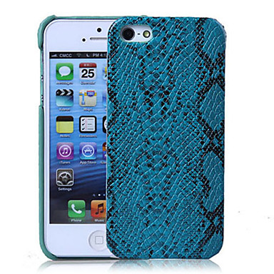 Snake Skin Pattern PU Hard Case with Interior Microfiber Protection for iPhone 5/5S (Optional Colors)