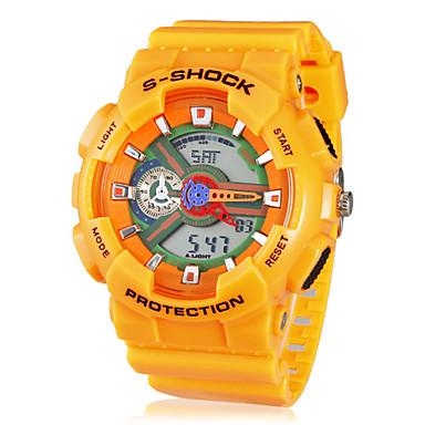 unisexe multi-fonction bande de montre-bracelet sportive analogique-numérique en caoutchouc (couleurs assorties)