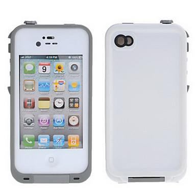 hvidt ensfarvet pc hårdt etui til iPhone 4/4S