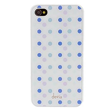 IPhone 4/4S için sapma Muhtasar Mor ve Mavi Yuvarlak Nokta Pattern Pürüzsüz Yüzey PC Hard Case