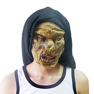 Withered and Yellow Monster Mask with Head Cover for Halloween Costume Party