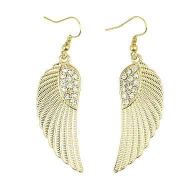 Drop Earrings Simulated Diamond Alloy Fashion Wings / Feather Golden Jewelry Daily