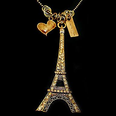 Torre Eiffel camisola cadeia coreano moda N120