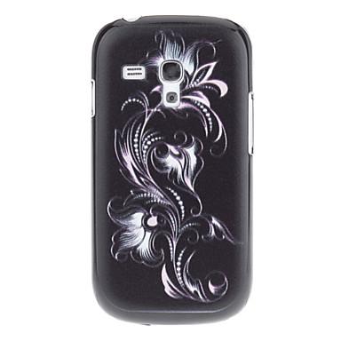 Dark Flower Pattern Жесткий задняя обложка чехол для Samsung Galaxy S3 Мини I8190