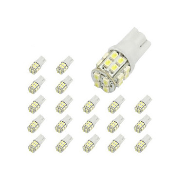 cheap Daytime Running Lights-LORCOO 10pcs T10 Car Light Bulbs 2 W 40 lm 20 LED Interior Lights / 6000 / 8000
