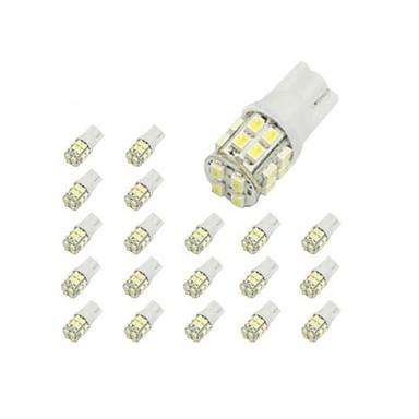LORCOO 10pcs T10 Mașină Becuri 2 W 40 lm 20 LED Lumini de interior / 6000 / 8000