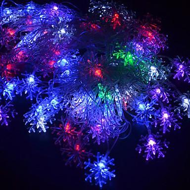 5m 220v 28 leds rgb șir luminile Crăciun fulg de zăpadă decorativ șir de lampă