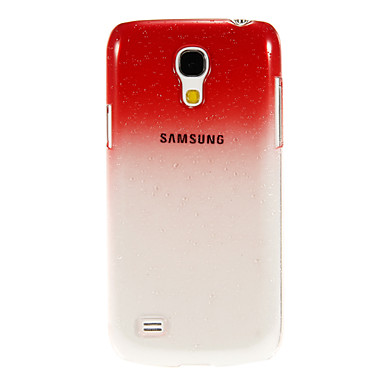 Raindrop Transparent Pattern Protective Plastic Hard Back Case for Samsung Galaxy S4 Mini I9190