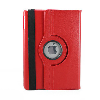 Case For iPad Air with Stand 360° Rotation Full Body Cases Solid Color PU Leather for iPad Air