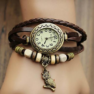 Kadın's Bilezik Saat Quartz Gündelik Saatler PU Bant Analog Bohem Moda Siyah / Mavi / Kırmızı - Kırmzı Yeşil Mavi Bir yıl Pil Ömrü / Jinli 377