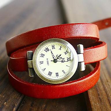 Women's Quartz Bracelet Watch Casual Watch PU Band Bohemian / Fashion Black / Blue / Red / Orange / Brown / Green