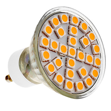 390-430 lm GU10 LED Spot Işıkları 29 led SMD 5050 Sıcak Beyaz AC 220-240V