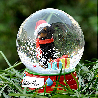 Schöne Rottweiler Dekorative Crystal Ball Ornament Weihnachtsgeschenk für Tierfreunde