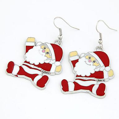 Pentru femei Cercei Picătură Cute Stil Crăciun cercei Bijuterii Rosu Pentru Crăciun Zilnic