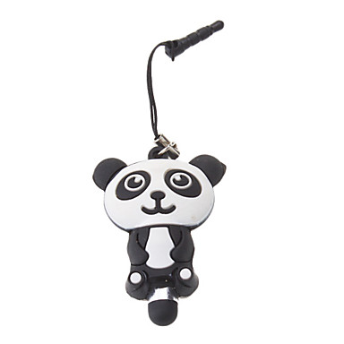 Mini 3D Cartoon Panda Style High Sensitivity Stylus Pen with 3.5mm Anti-dust Plug for iPhone/iPad and Others