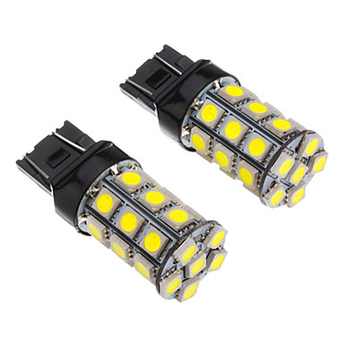 SO.K 2pcs T20 Araba Ampul SMD 5050 100-250 lm Stop lambası For Uniwersalny