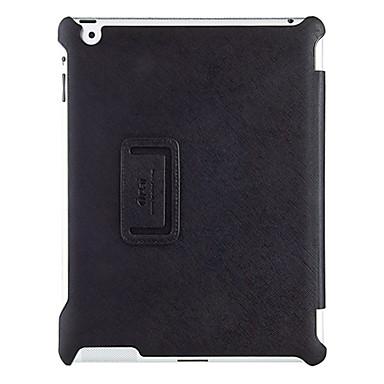 Pouzdro Uyumluluk iPad 4/3/2 Satandlı / Oto Uyu / Uyan Tam Kaplama Kılıf Tek Renk PU Deri için iPad 4/3/2