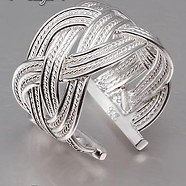 Жен. Заявление - Серебрянное покрытие Открытые Стандартный размер Серебряный Назначение Для вечеринок