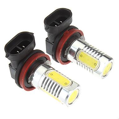 Araba için H8 6W 4-LED 480LM 6000K Soğuk Beyaz Işık LED Ampul (10-24V, 2 adet)