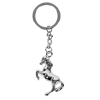 Personalized Engraved Gift Creative Horse Shaped Keychain with 1 Letter