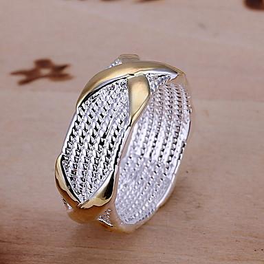 Yüzükler Düğün / Parti Mücevher alaşım / Bakır / Gümüş Kaplama İfadeli Yüzükler8 Gümüş