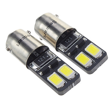 BA9S Araba Soğuk Beyaz 1.5W SMD 5730 6000 Gösterge Işıkları Okuma Işığı Yan Lambalar Kapı lambası