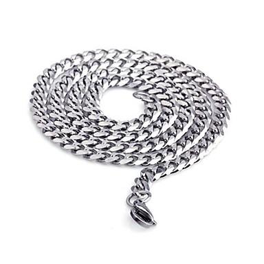 Mode Män s Jewerlry Silver rostfritt stål kedjar halsbandet 80cm Längd