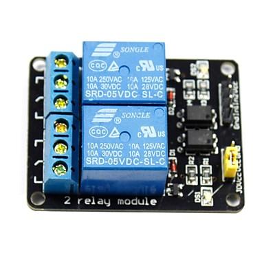 (Arduino için) 2 kanal 5v üst düzey tetikleme rölesi modülü (arduino) panoları için (resmi ile çalışır)