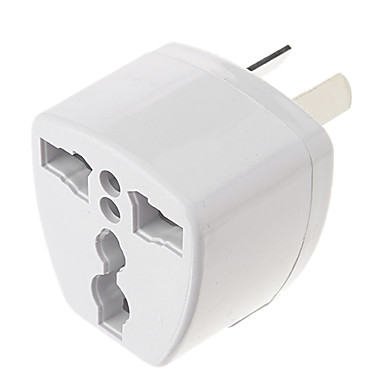cheap AC Adapter & Power Cables-Universal AU Port Travel Power Adapter Plug (250V, White)