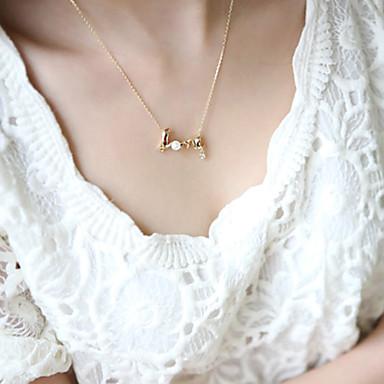 Pentru femei Coliere cu Pandativ Monogramă Inimă Iubire Plin de graţie femei stil minimalist Delicat Aliaj Argintiu Auriu Coliere Bijuterii Pentru Petrecere Zi de Naștere Cadou Zilnic Casual