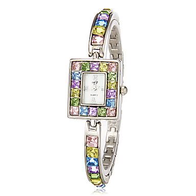 Pentru femei Ceasuri de lux Ceas Brățară Diamond Watch Japoneză Quartz Multicolor imitație de diamant Analog femei Sclipici Modă Elegant Bling bling